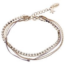 Buy Orelia Cupchain & Plait Bracelet, Lilac Online at johnlewis.com