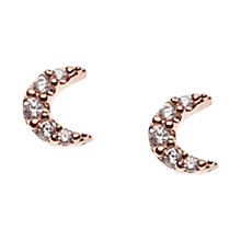 Buy Orelia Crystal Moon Stud Earrings, Clear Online at johnlewis.com