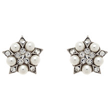 Buy Finesse Pearl & Crystal Earrings, Silver Online at johnlewis.com