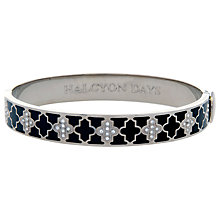 Buy Halycon Days Agama Sparkle 18ct Palladium Plated Bangle, Black Online at johnlewis.com