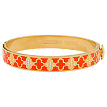 Buy Halycon Days Agama Sparkle 18ct Gold Plated Bangle, Orange Online at johnlewis.com