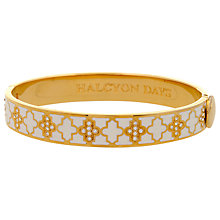Buy Halycon Days Agama Sparkle 18ct Gold Plated Bangle, Cream Online at johnlewis.com