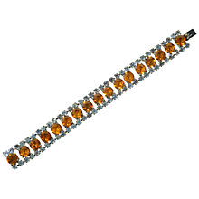 Buy Alice Joseph Vintage 1950s Topaz Diamante Bracelet, Orange Online at johnlewis.com