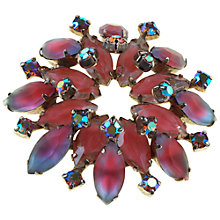 Buy Alice Joseph Vintage Diamante Brooch, Pink Online at johnlewis.com