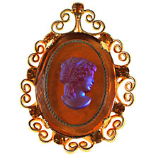 Buy Alice Joseph Vintage 1970s Celebrity Cameo Brooch, Orange Online at johnlewis.com