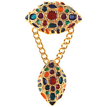 Buy Alice Joseph Vintage 1990s DKNY Enamel Brooch, Multi Online at johnlewis.com