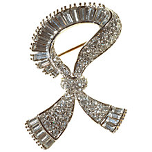 Buy Alice Joseph Vintage Diamante Scarf Brooch, White Online at johnlewis.com