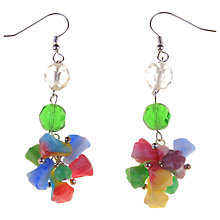 Buy Alice Joseph Vintage 1930s Flower Earrings, Multi Online at johnlewis.com