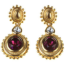 Buy Alice Joseph Vintage Burberry Amethyst Diamante Earrings, Gold / Purple Online at johnlewis.com