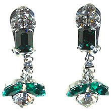 Buy Alice Joseph Vintage 1950s Drop Earrings, White / Green Online at johnlewis.com