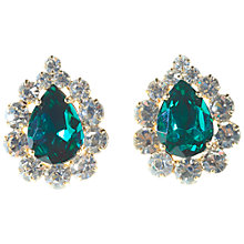 Buy Alice Joseph Vintage 1980s Diamante Earrings, White / Green Online at johnlewis.com