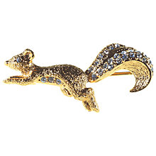 Buy Alice Joseph Vintage Attwood & Sawyer Squarrel Brooch, Gold Online at johnlewis.com