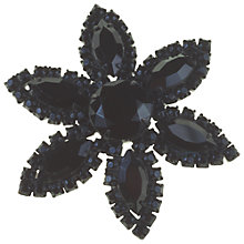 Buy Alice Joseph Vintage Weiss Diamante Flower Brooch, Black Online at johnlewis.com