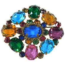 Buy Alice Joseph Vintage 1920s Bohemian Diamante Brooch, Multi Online at johnlewis.com