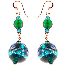 Buy Alice Joseph Vintage Hand Blown Venetian Bead Earrings, Blue Online at johnlewis.com