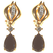 Buy Alice Joseph Vintage D'Orlan Drop Earrings, Black / White Online at johnlewis.com