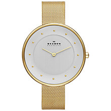 Buy Skagen SKW2141 Women's Gitte Refined Mesh Strap Watch, Gold Online at johnlewis.com