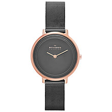 Buy Skagen SKW2277 Women's Ditte Mesh Watch, Grey / Rose Gold Online at johnlewis.com