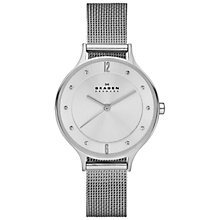Buy Skagen SKW2149 Women's Anita Stainless Steel Mesh Bracelet Watch, Silver Online at johnlewis.com