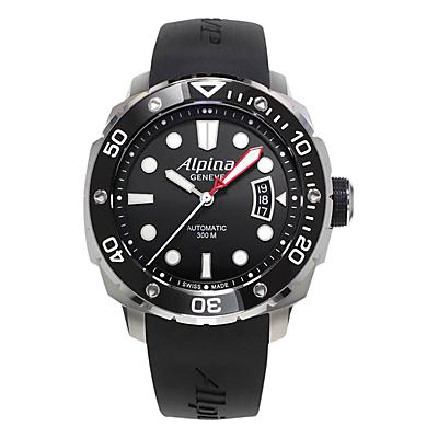Alpina AL-525LB4V36 Men's Extreme Diver Automatic Rubber Strap Watch, Black