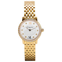 Buy Frédérique Constant FC-200WHDSD5B Slim Line Mini Diamond Women's Bracelet Watch, Gold Online at johnlewis.com