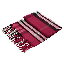 Buy Viyella Oversized Check Scarf, Raspberry Online at johnlewis.com