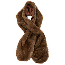 Buy Phase Eight Tara Faux Fur Collar Scarf, Mink Online at johnlewis.com