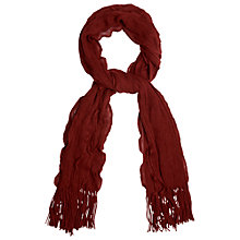 Buy Phase Eight Darcy Frill Scarf, Burgundy Online at johnlewis.com