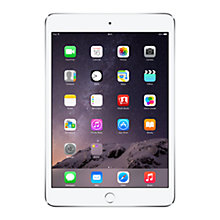 "Buy Apple iPad Air 2, Apple A8X, iOS 8, 9.7"", Wi-Fi & Cellular, 64GB, Silver + Logitech Type+ Keyboard Case, Black Online at johnlewis.com"