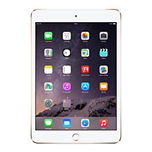 "Buy Apple iPad Air 2, Apple A8X, iOS 8, 9.7"", Wi-Fi & Cellular, 128GB, Gold + Logitech Type+ Keyboard Case, Black Online at johnlewis.com"