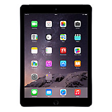 "Buy Apple iPad Air 2, Apple A8X, iOS, 9.7"", Wi-Fi & Cellular, 64GB Online at johnlewis.com"