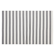 Buy John Lewis Stripes Placemat, Grey/White Online at johnlewis.com