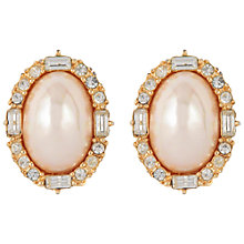 Buy Susan Caplan Vintage Bridal 1980s Christian Dior Gold Plated Faux Pearl Swarovski Crystal Clip-On Earrings, Gold/Pearl Online at johnlewis.com