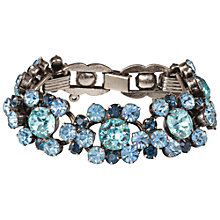 Buy Susan Caplan Vintage Bridal 1960s Juliana Silver Plated Swarovski Crystal Bracelet, Blue/Silver Online at johnlewis.com