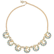 Buy Susan Caplan Vintage Bridal 1960s Coro Gold Plated Austrian Crystal Swirl Necklace, Gold/Blue Online at johnlewis.com