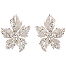 Buy Susan Caplan Vintage Bridal 1960s Attwood & Sawyer Silver Plated Swarovski Crystal Clip-On Earrings, Silver/Clear Online at johnlewis.com