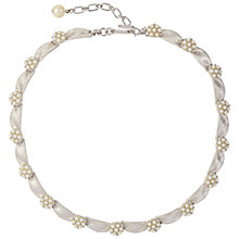 Buy Susan Caplan Vintage Bridal 1960s Trifari Silver Plated Ribbon Faux Pearl Necklace, Pearl/Silver Online at johnlewis.com