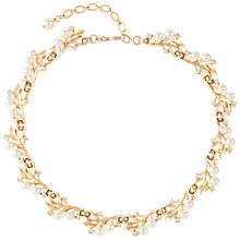 Buy Susan Caplan Vintage Bridal 1960s Trifari Gold Plated Faux Pearl Swarovski Crystal Necklace, Gold/Pearl Online at johnlewis.com