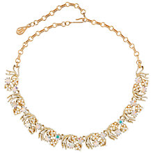 Buy Susan Caplan Vintage Bridal 1950s Coro Gold Plated Swarovski Crystal Necklace, Gold/Blue Online at johnlewis.com