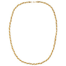 Buy Susan Caplan Vintage Bridal 1980s Trifari Gold Plated Faux Pearl Twist Necklace, Gold/Pearl Online at johnlewis.com