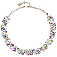 Buy Susan Caplan Vintage Bridal 1950s Lisner Aurora Borealis Swarovski Crystal Silver Plated Necklace, Silver/Blue Online at johnlewis.com