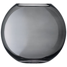 Buy LSA International Polka Glass Vase 24cm, Zinc Online at johnlewis.com