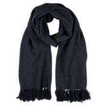 Buy Hobbs Rue Scarf, Charcoal Online at johnlewis.com
