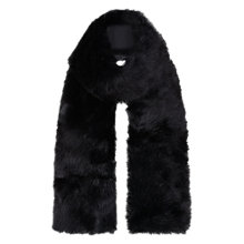 Buy Hobbs Faux Fur Scarf, Black Online at johnlewis.com