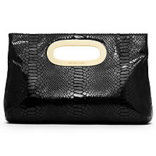 Buy MICHAEL Michael Kors Berkley Large Leather Clutch, Black Online at johnlewis.com