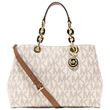 Buy MICHAEL Michael Kors Cynthia Leather Mid Satchel Bag Online at johnlewis.com