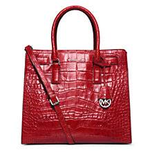 Buy MICHAEL Michael Kors Dillon Large Leather Tote Bag, Red Online at johnlewis.com