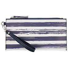 Buy Collection WEEKEND by John Lewis Broken Stripe Pouch Clutch Bag, Blue Online at johnlewis.com