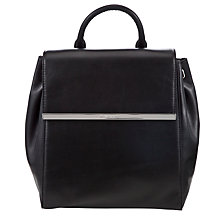 Buy MICHAEL Michael Kors Lana Leather Backpack, Black Online at johnlewis.com