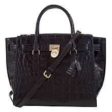 Buy MICHAEL Michael Kors Hamilton Traveller Leather Satchel Bag Online at johnlewis.com